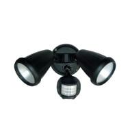 Telbix Titan 2 X 6w LED Exterior Spotlight & Sensor Black