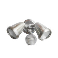 Telbix Titan 2 X 6w LED Exterior Spotlight & Sensor Nickel