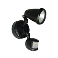 Telbix Titan 1 X 6w LED Exterior Spotlight & Sensor Black