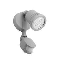 Mercator Ritz 1 X 9w LED Exterior Spotlight & Sensor Silver