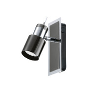 Eglo Davida 1lt GU10 LED Spotlight Black & Chrome