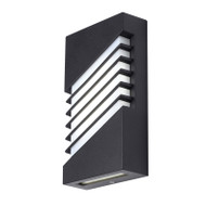 Telbix Atrium LED Exterior Wall Light Black