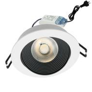 Mercator Echo 11w 5000K COB LED Down Light White/Black
