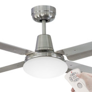 Mercator Swift 140cm B/Chrome & 304 S/S Fan With Light & Remote