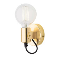 Mercator Bronte Simple Wall Light Brushed Brass