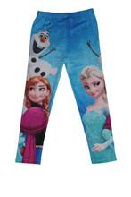 Girls Frozen Tights Elsa Anna Olaf Kids Leggings Pants Trousers Costume  size 7/8