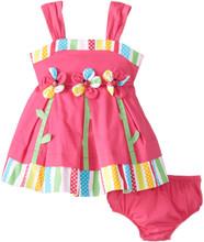 Bonnie Baby Baby-Girls Infant Ladybug Flower Appliqued Sundress 3-6 Months