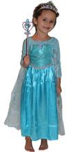 Princess Elsa Inspired Girls Costume Dress - Princess Costume Wand Crown