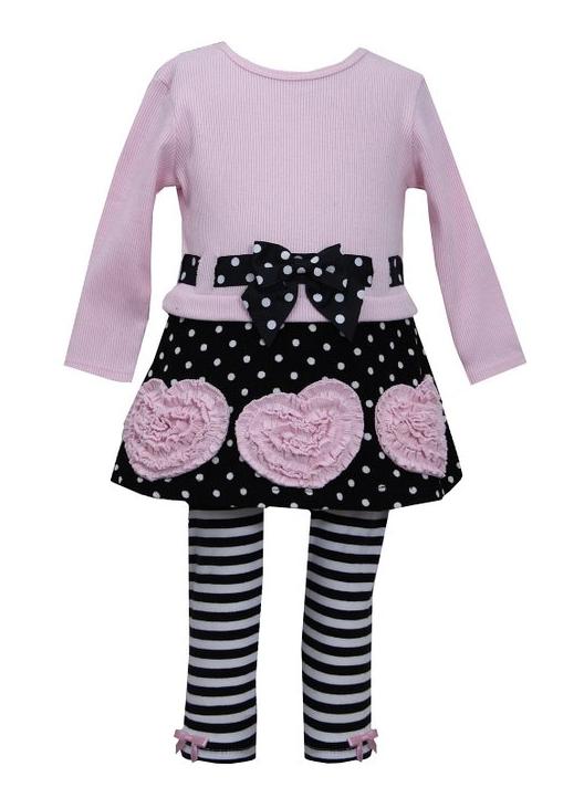 Bonnie Jean Girls Pink Leopard Bonaz Fleece Fall Winter Coat /& Hat 18M 24M//2T
