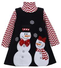 Bonnie Jean Christmas Snowman Bow Jumper Set 3-6 Months