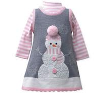Bonnie Jean Girls Winter Pink Holiday Christmas Snowman Jumper Set 12-24 Months