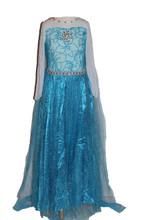 Girls Frozen Snow Queen Elsa Costume Snow Princess Dress up 2-9 Years