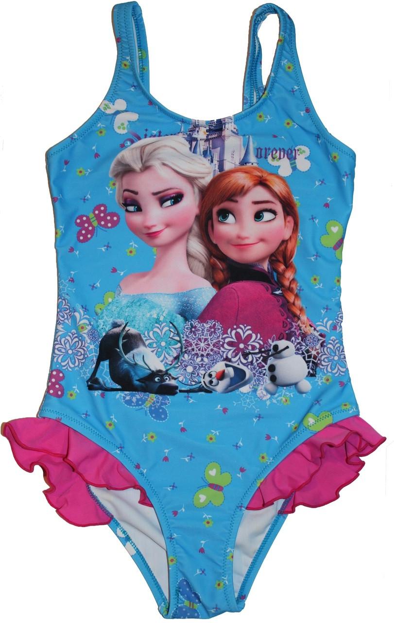 e62697f869 Frozen Elsa Anna Olaf Swimsuit Princess Swimwear. Image 1. Loading zoom