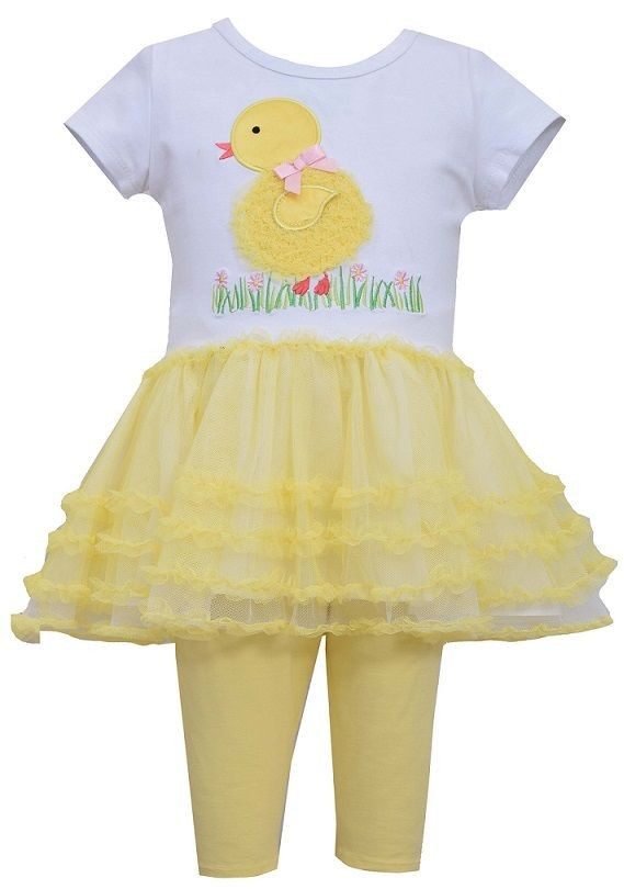 10e4490961677 Bonnie Jean Baby Girls Spring Easter Yellow Chick Tutu Outfit 12 18 24  Months. Image 1. Loading zoom
