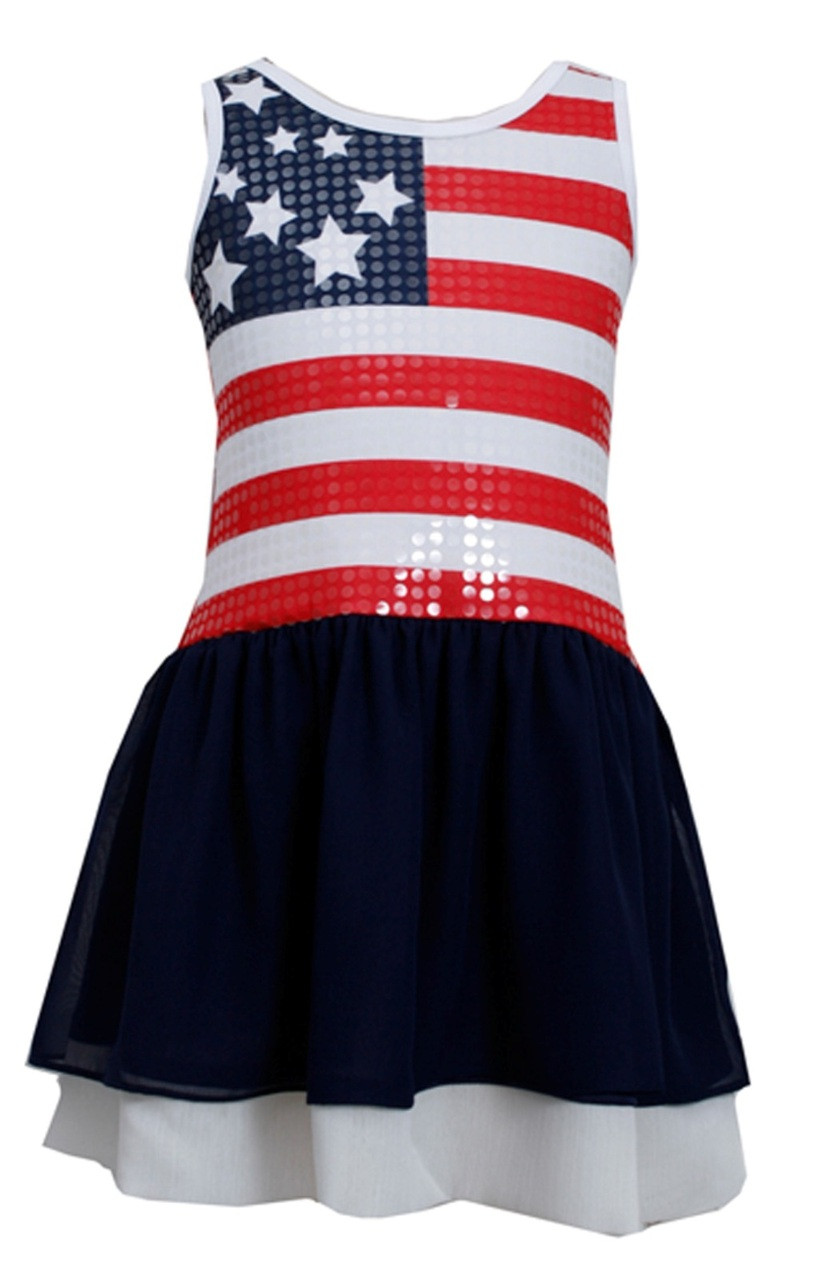 Bonnie Jean Red White Blue 4th July American Flag Little