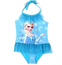 Frozen Queen Elsa Little Girls 1 Piece Swimsuit