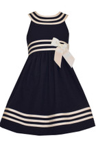 Bonnie Jean Big Girls' Easter Holiday Sailor Navy Uniforms Dress Sleeveless 7-20 1/2