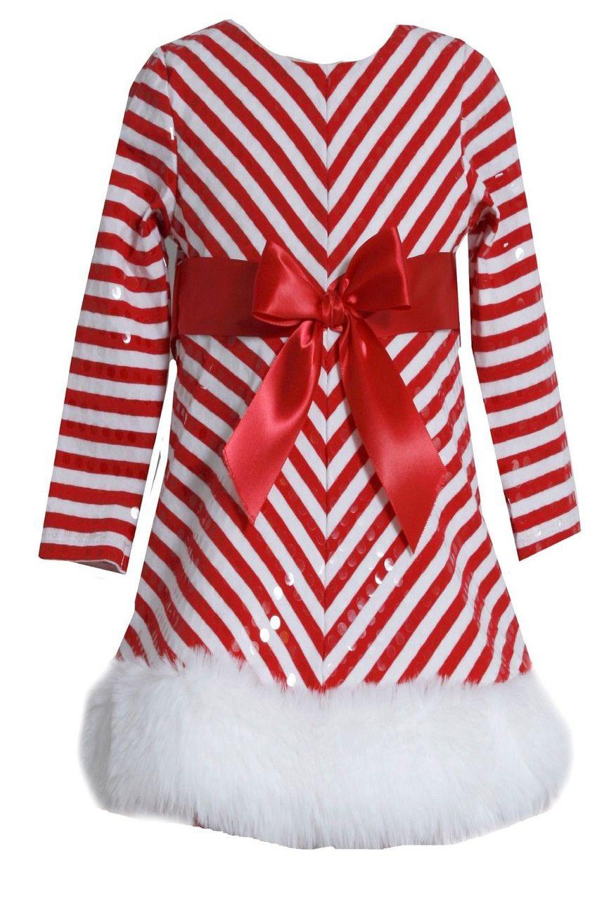 8a21a2fcb6d58 Bonnie Jean Santa Christmas Velvet Red big girls dress