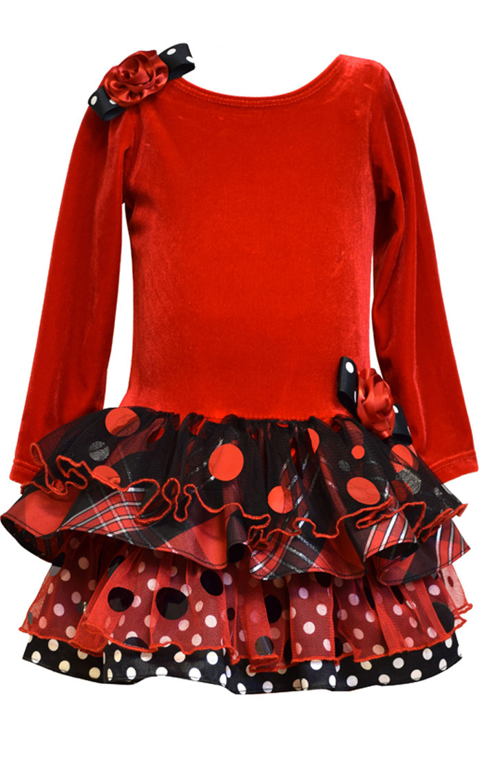 Bonnie Jean Christmas Holiday Red Girls Dress