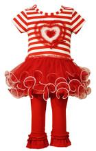 Bonnie Jean Valentine's Baby Girls' Sequin RED Heart Tutu Legging Set 0-24 Months