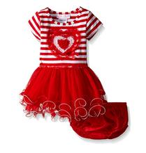 Bonnie Jean Valentine's birthdays Baby Girls' Sequin RED Heart Tutu Dress 0-24 Months