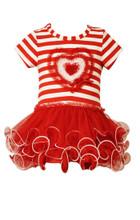 Bonnie Jean Valentine's Birthday Little Girls' Sequin RED Heart Tutu DRESS  2T-6X