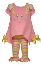 Bonnie Jean Little Girls Spring Easter Bunny Applique Legging Set 2T-6X