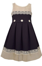 Bonnie Jean Easter Special Occasion Big Girls' Knit To Lace Dress 7-16