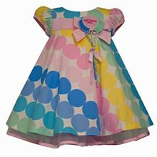 Bonnie Jean Baby Girls Multi Polka Dot Birthday Dress, Multi 2T 3T 4T