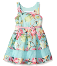 Bonnie Jean Girls' Mint Floral Special Occasion Easter Dress 7-20 1/2