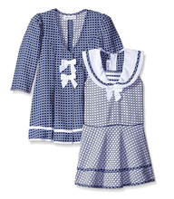 Bonnie Jean Baby Girls Navy Easter Holiday Bow Coat Dress Set 0-24 Months