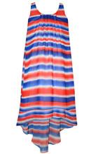 c6e756b323 Bonnie Jean 4th July Big Girls Striped Pattern Patriotic Hi-Lo Dress 7-16