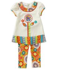 Bonnie Jean Baby Girls' Textured Knit Legging Set 0-24 Months