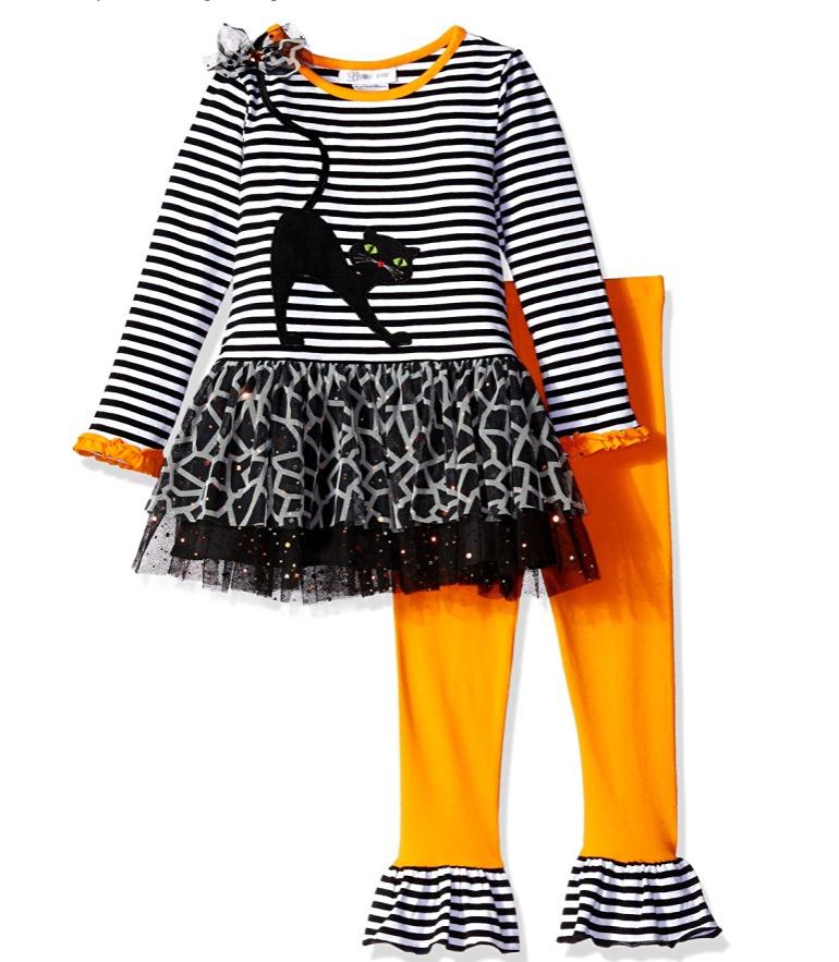 FANCYINN b/éb/é Filles Citrouille Squelette Tutu Robe b/éb/é Filles Mon 1er Halloween Costume Tenue 2 pi/èces Ensemble