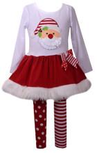 Bonnie Jean Baby Girls Holiday Christmas Santa Red Faux Fur Legging Set 0-24 Months