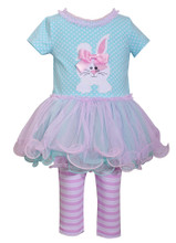 Bonnie Jean Baby girls Holiday Easter Bunny Dress 2 pc Set 0-24 Months
