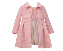 Bonnie Jean Easter Pink and White Rainbow Tulle Dress and Spring Coat Set 2T-6X
