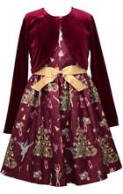 Bonnie Jean Christmas Nutcracker Dress & Cardigan Set  7-16