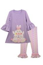 Bonnie Jean Easter Bunny Holiday Dress Legging Set size 0-24 Months
