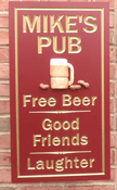 Personalize This Sign - Mike's Pub