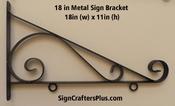 18 Inch Metal Sign Bracket
