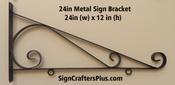 24 Inch Metal Sign Bracket
