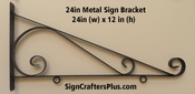 24 Inch Metal Sign Bracket