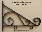 12 Inch Metal Sign Bracket