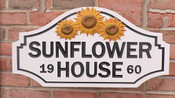 Personalize This PVC Sign Shape - Sunflower House - 20 x 10