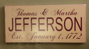 Personalize This Painted Wooden Sign - 10(h) x 24 (w). Makes the perfect wedding, anniversary or engagement gift!