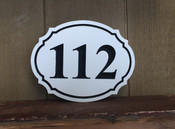 This is a very versatile shape. Fits easily under your mailbox or on a wall as a wall plaque.