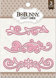 3 Flourish Dies Craft Die Cutting Dies BoBunny Crafts Die 12839811 New