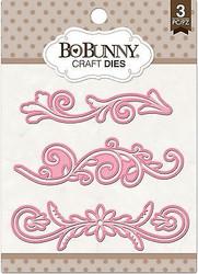 3 Flourish Dies Craft Die Cutting Dies BoBunny Crafts Die 12839811 New