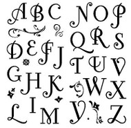 ALPHABET Clear Unmounted Rubber Stamps Set 34 STAMPS INKADINKADO 97731 New